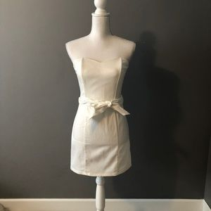 Strapless, Corset Dress with Tie Belt